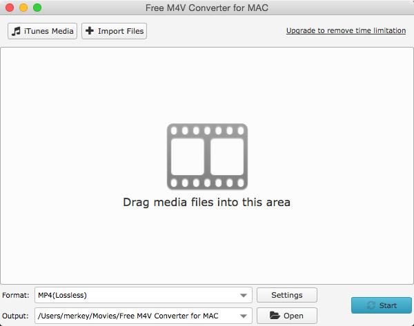 Free M4V Converter for Mac full screenshot